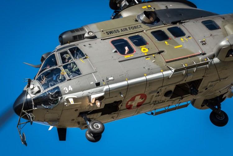 Elicottero Super Puma della Swiss Air Force