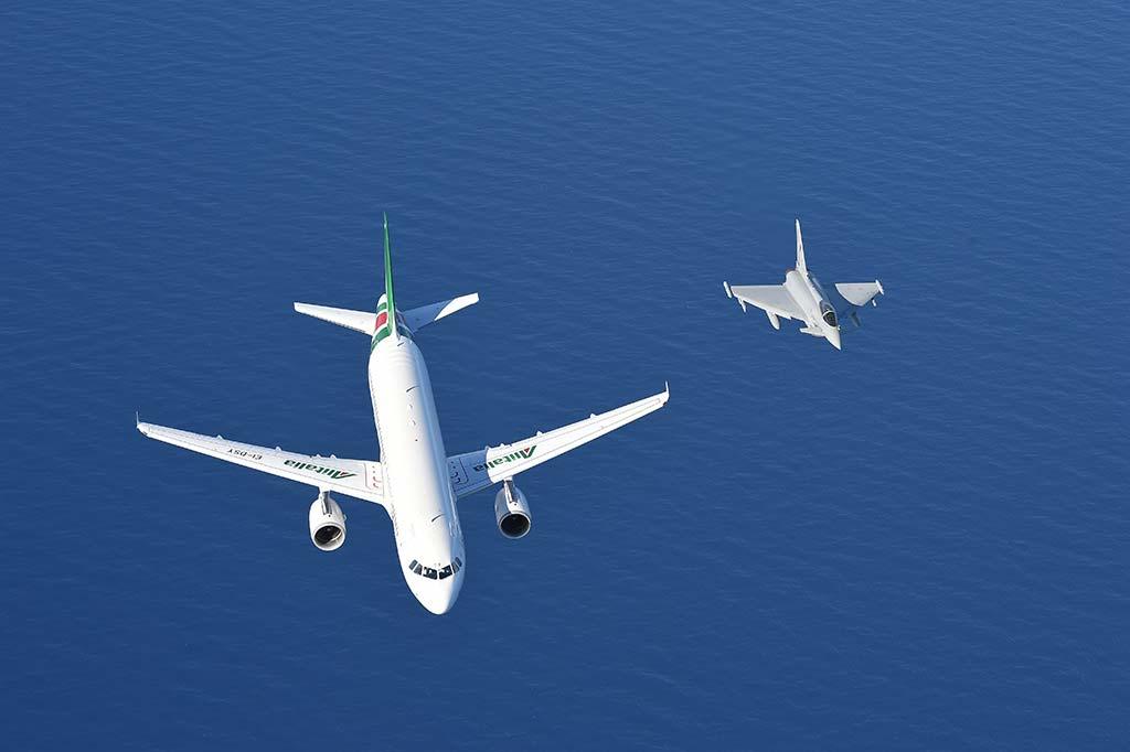 intercettazione velivolo sospetto eurofighter
