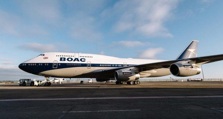 british airways 747 BOAC