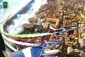 Frecce Tricolori su Roma