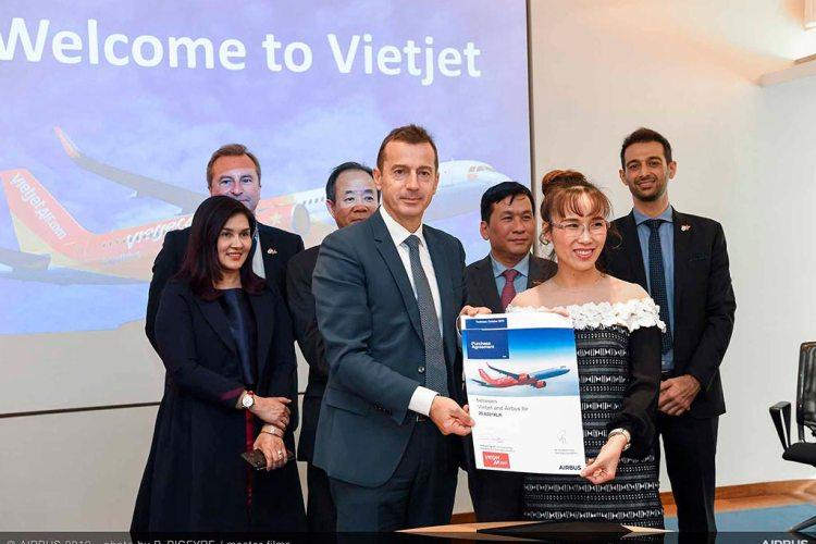 Airbus A321XLR VietJet firma del contratto