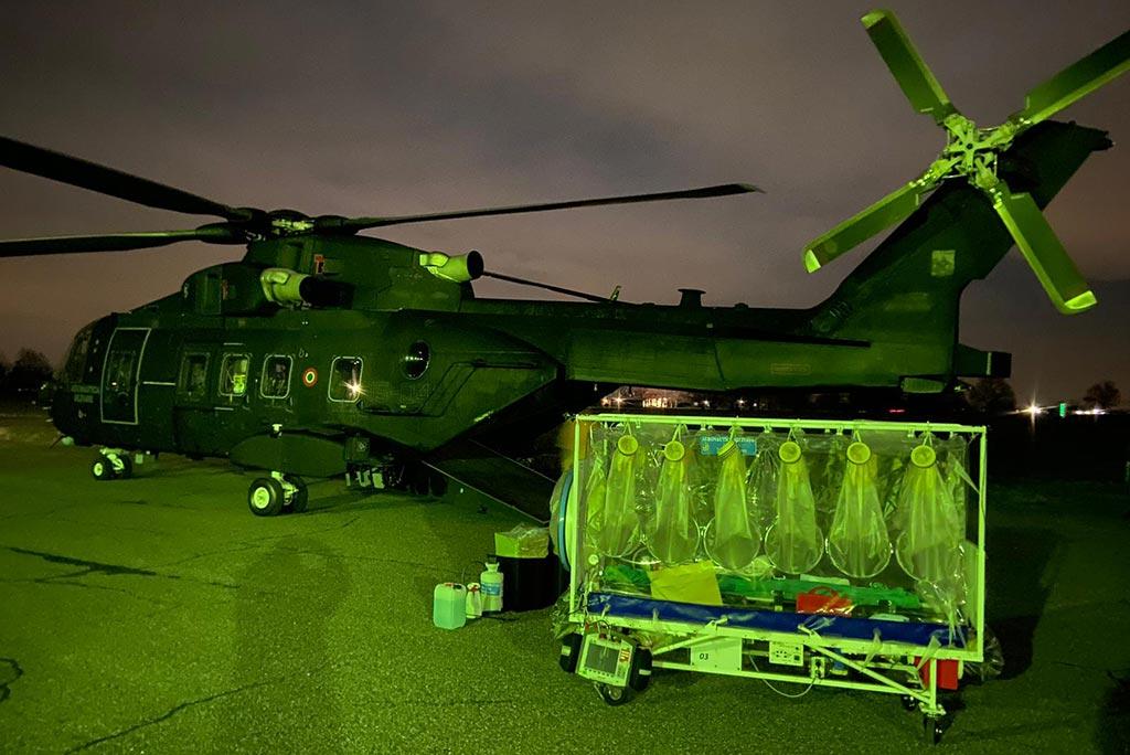 AM trasporto biocontenimento HH101 Aeronautica MIlitare 2020