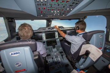Lufthansa flight acceptance Airbus A350