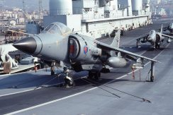 Sea Harrier FRS1 ZD614 801 Sqn Ark Royal at Trieste