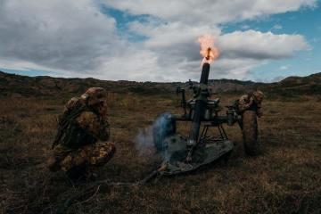 azione a fuoco sezione mortai reggimento paracadutisti Nembo