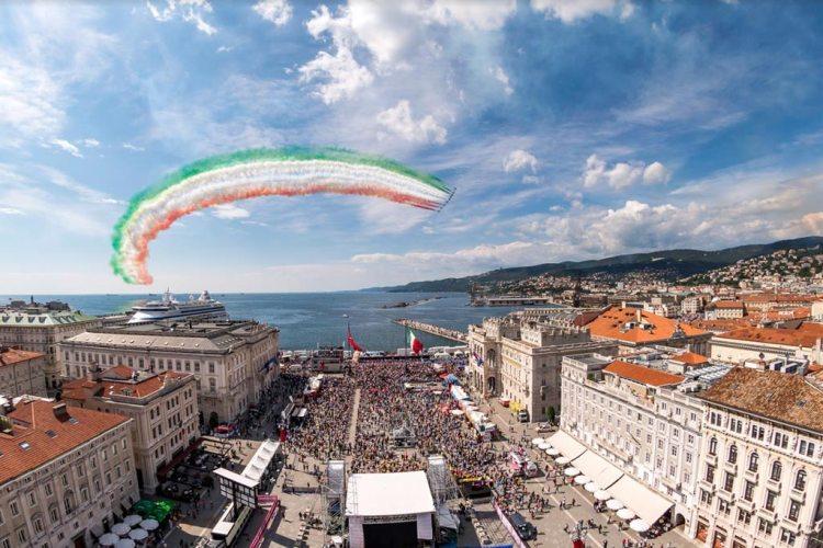 Frecce Tricolori sul Giro d'Italia a Trieste