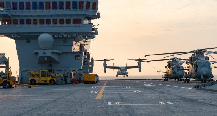 osprey dei marines sulla portaerei cavour