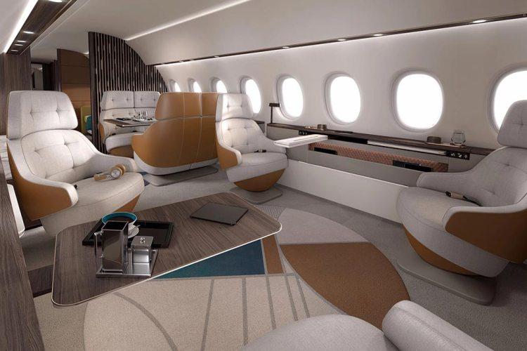 Dassault Aviation Falcon 10X cabina