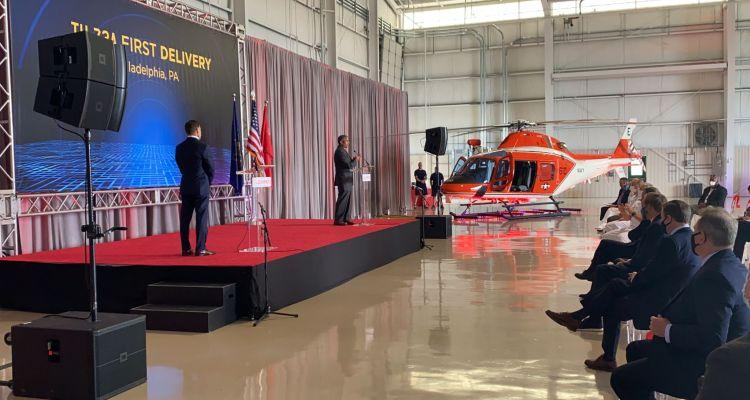 primo elicottero Leonardo TH-73A US Nvy