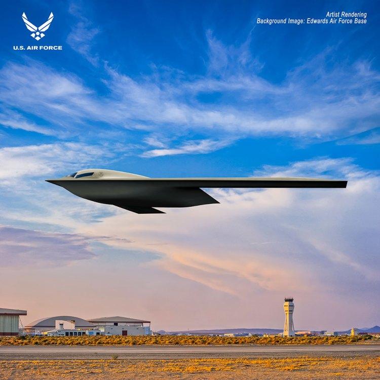 rendering us air force b-21 raider