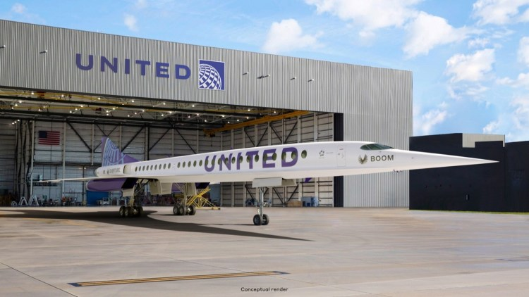 united airlines boom supersonic overture