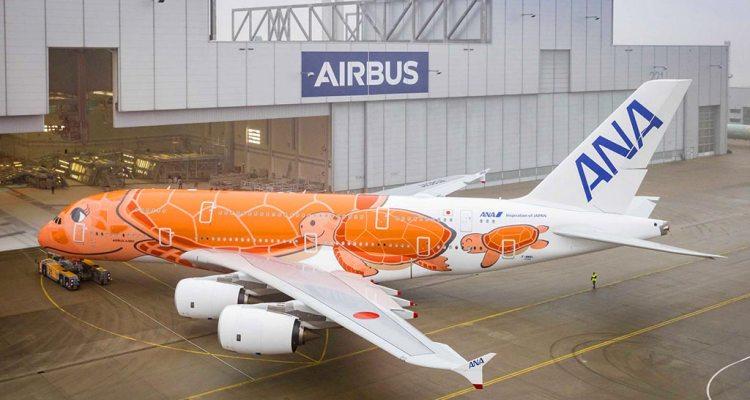 All Nippon Airways A380 Orange