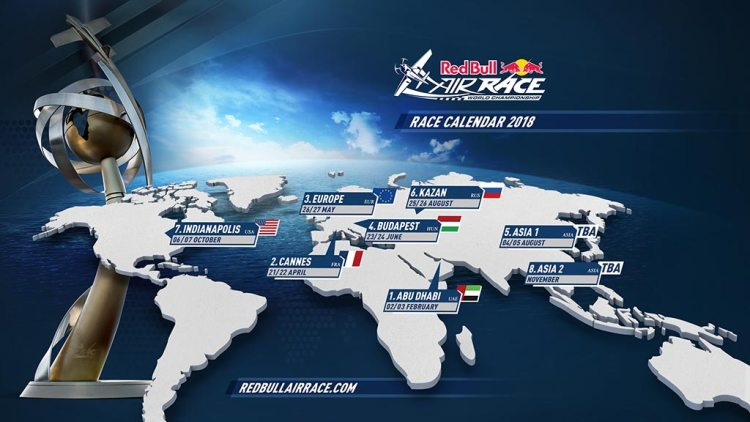 2018 Red Bull Air Race calendar