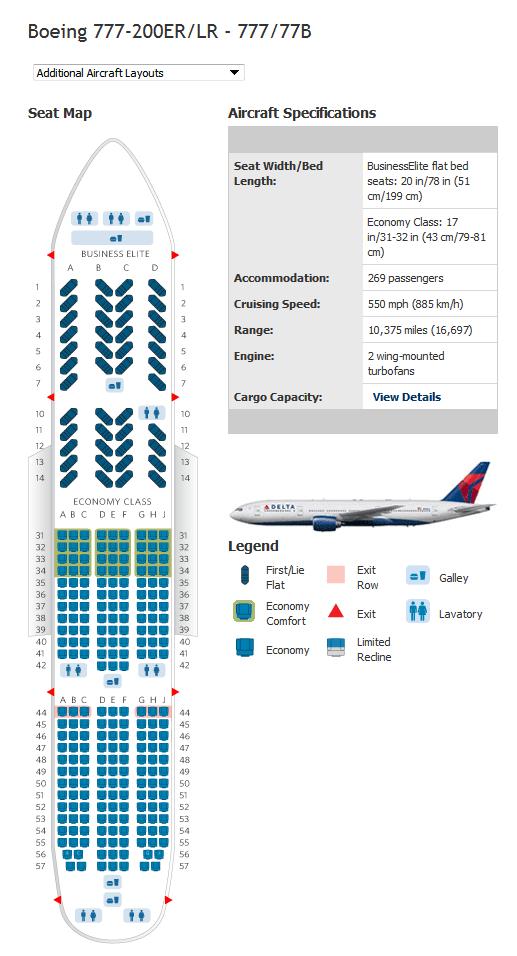 delta boeing 777 300er seat map. Black Bedroom Furniture Sets. Home Design Ideas