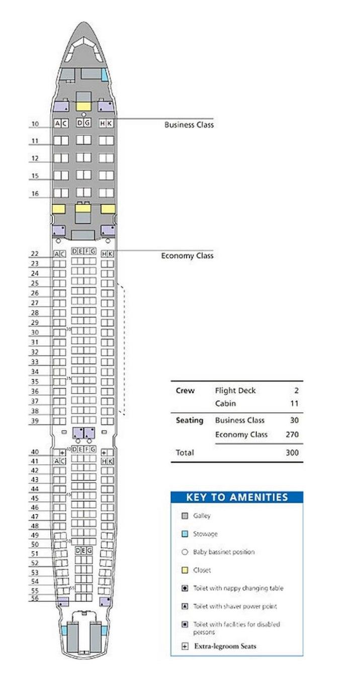 Airbus A330 300 Seating Chart British Airways   www ...