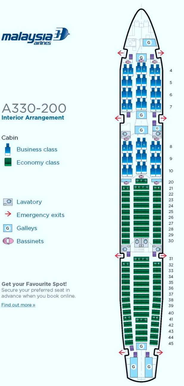 Aer lingus seat plan airbus a330 for Table seating for 20