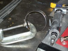 Manufacturing new exhaust clamps to complete the engine conversion for installation on the Morane.