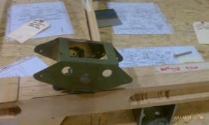 Rear spar box for Sopwith Camel, blasted and painted.