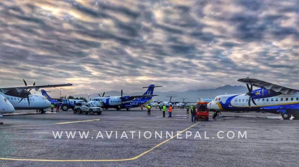 Congestion At TIA Domestic Parking Bay - Aviation Nepal