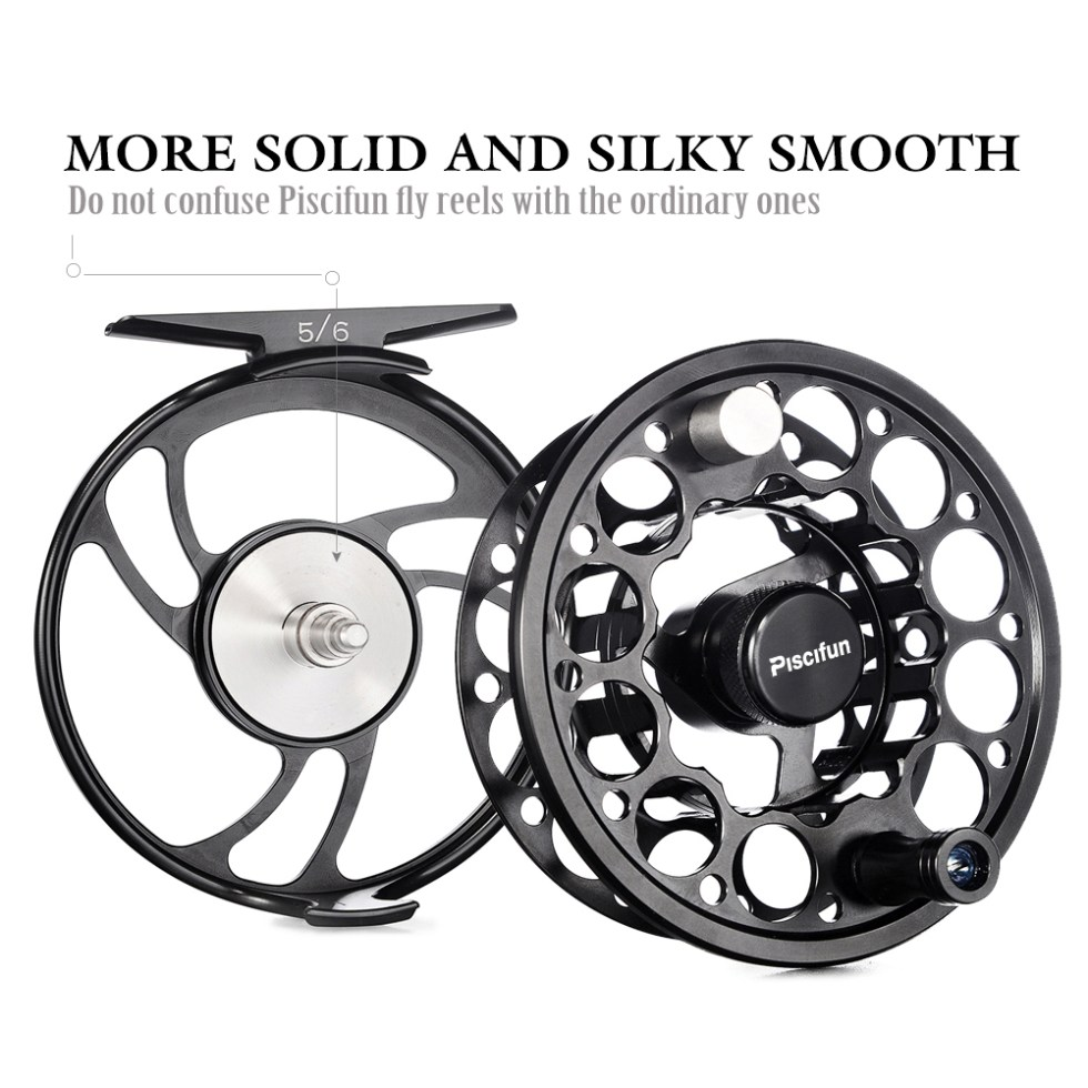 Piscifun Sword 3/4/5/6/7/8/9/10 WT Fly Reel With CNC-Machined Aluminium Material Right Left Handed Fly Fishing Reel Gunmetal 4