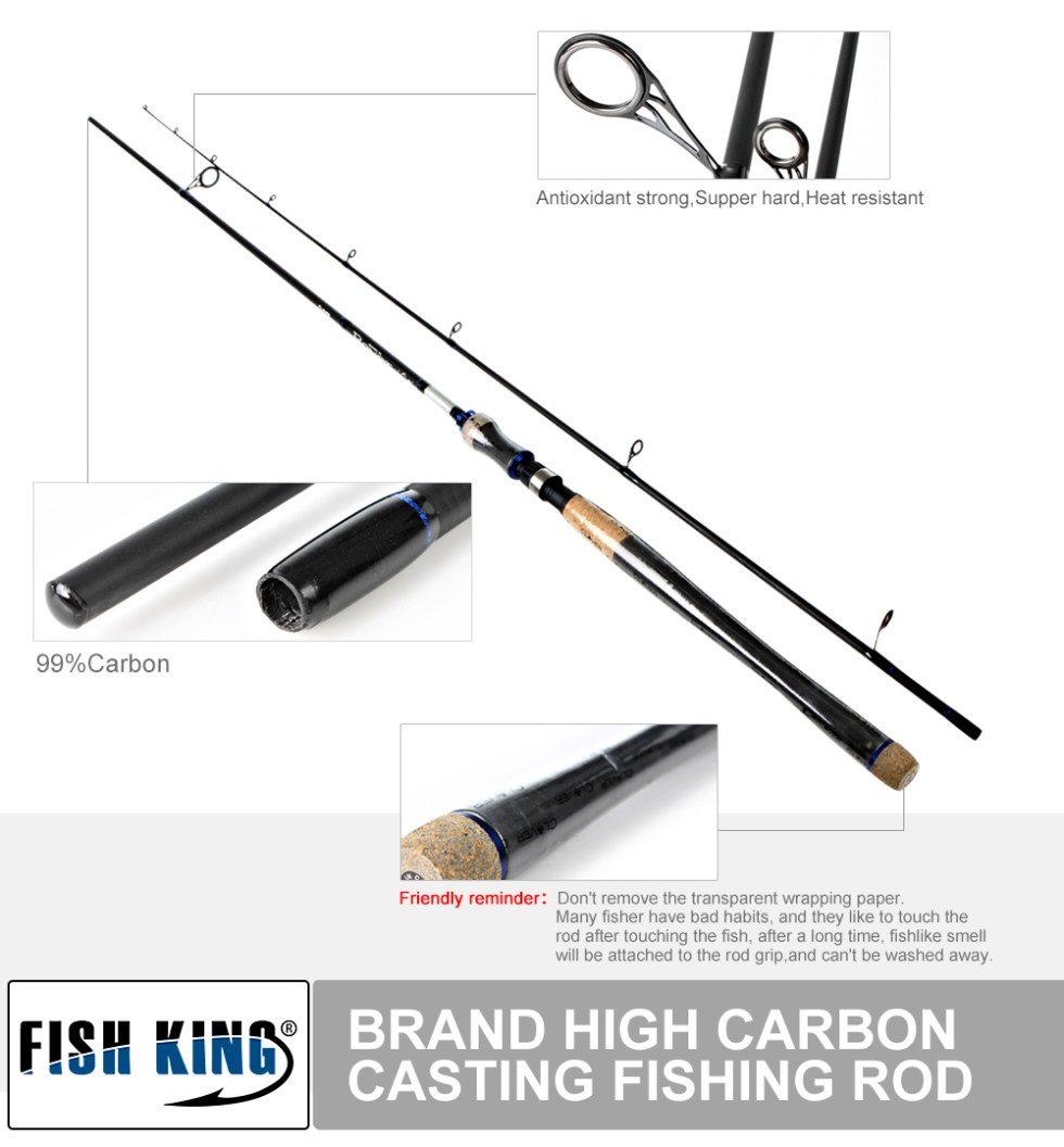 FISH KING Hi Carbon 5 Color 2.1M-2.7M 2 Section Soft Lure Fishing Rod Lure Weight 2-40g Spinning Fishing Rod For Lure Fishing 11