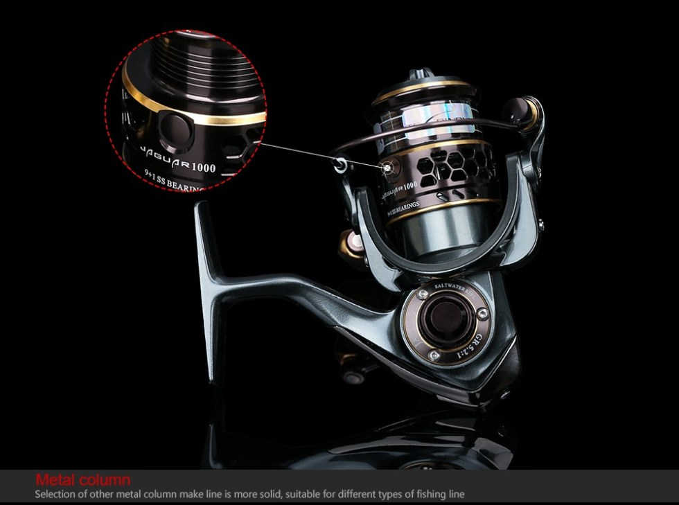 TSURINOYA Jaguar Series 1000 2000 3000 Double Spool Stainless Steel Bearing Ultra-light Lure Spinning Reel Rocky Fishing Reel 19
