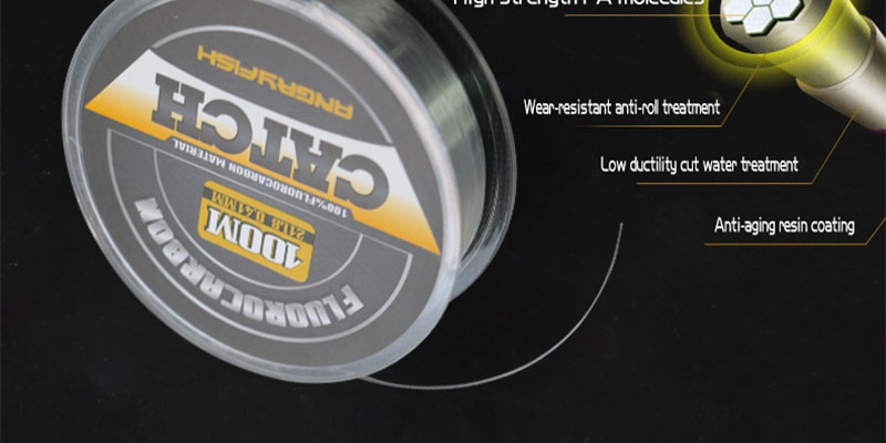 Angryfish 100% Fluorocarbon Fishing Line 100m Transparent Carbon Monofilament Line Super Strong Free Shipping 8