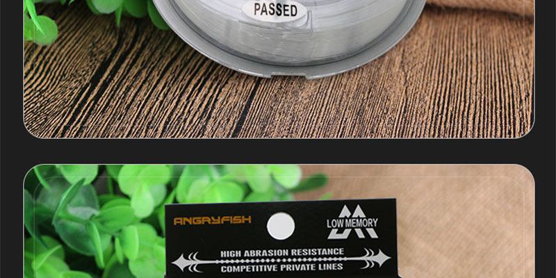 Angryfish 100% Fluorocarbon Fishing Line 100m Transparent Carbon Monofilament Line Super Strong Free Shipping 20
