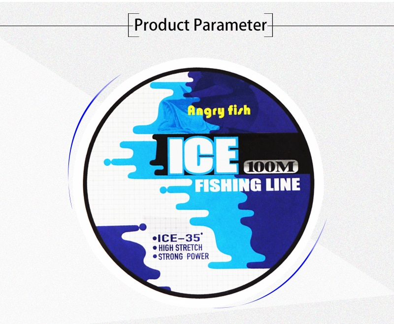 Angryfish Ice Fishing Line 100m Winter Fishing Nylon Line Monofilament Super Strong Nylon Line 2