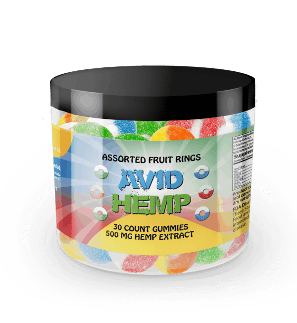 CBD Gummy Rings 30ct 500mg Avid Hemp