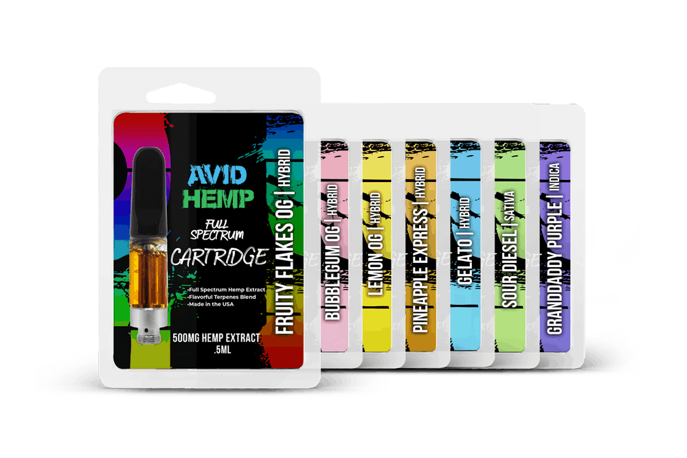 CBD Cartridge 500mg Avid Hemp