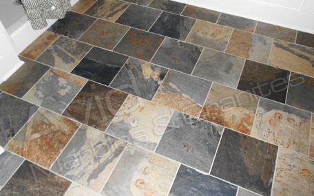 autumn rustic slate flooring tiles