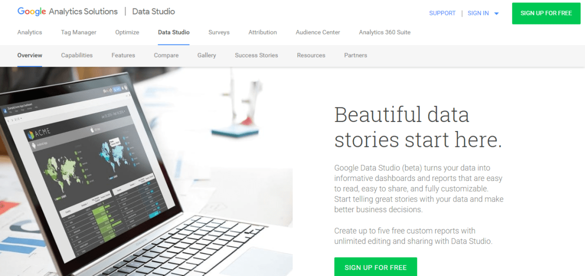 Google-Data-Studio Free-Google-Tools-Avinash-Dangeti