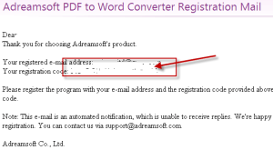 PDF to word convertor license details