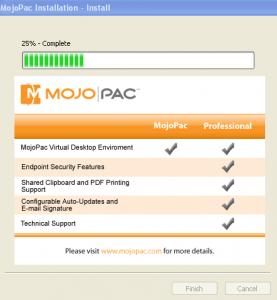 Mojopac Install