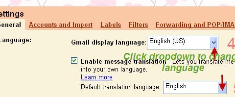 Enable Gmail translation 1
