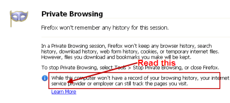 private browsing firefox2