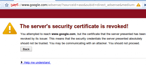 Chrome says Google Security certificate is revoked [solved] 1
