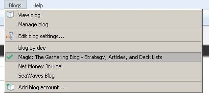 Dropdown Menu to Manage Different Blogs