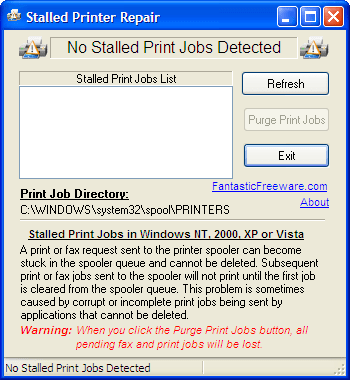 Detect and Repair Stalled Print Jobs without waiting 1