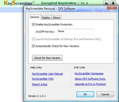 Protect your login details, credit card numbers, passwords etc. with Keyscrambler 1