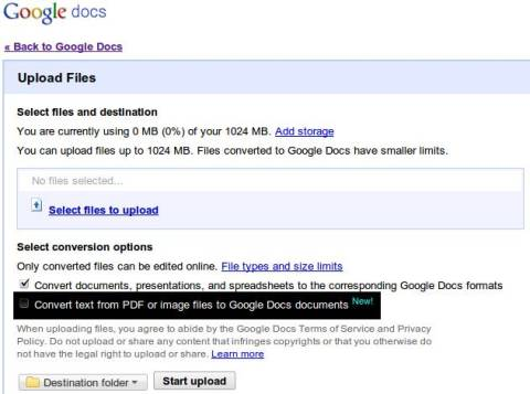 Convert PDFs, Images to text using Google Docs OCR 1