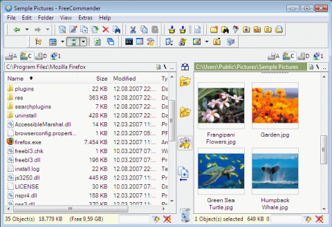 Replace standard windows file manager (Explorer) with Free Commander 1