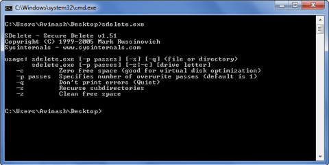 How to securely erase, wipe your Hard Disk 3