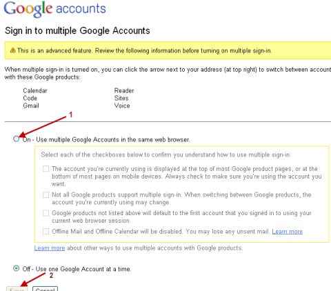 How to enable Gmail Multiple account login 2