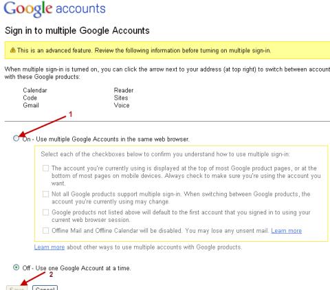 gmail multi login