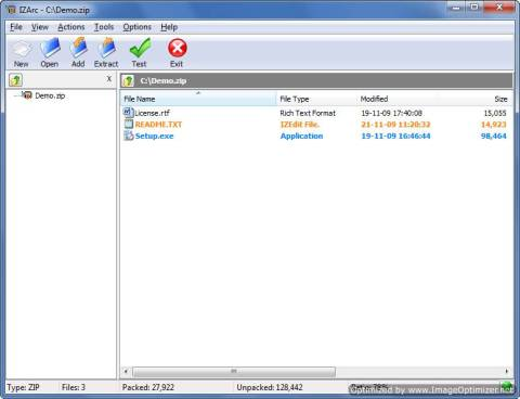 IZArc : Zip, unzip and password protect your files with AES encryption 3