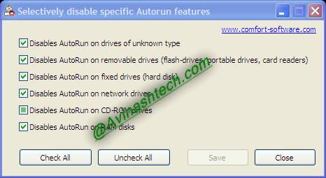 Disable Autorun: selectively or completely disable all Autoruns 2