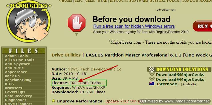 [Giveaway]: Grab EASEUS Partition Master Professional 6.1.1 for FREE