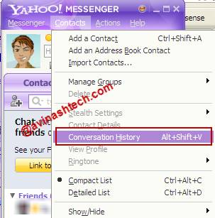 Yahoo Conversation history